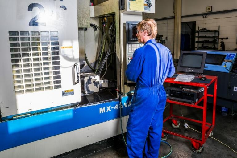 CNC milling machine at Taradale Production Engineering